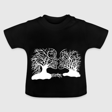 Tree face paper cut - Baby T-Shirt