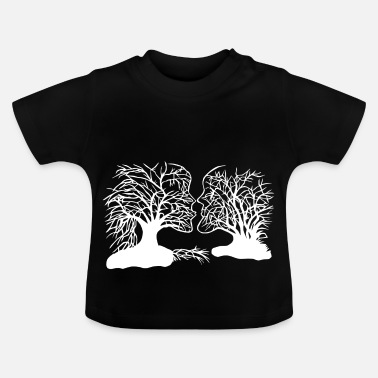 Paper Cutting Tree face paper cut - Baby T-Shirt