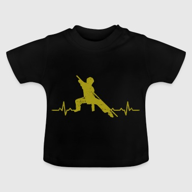 Kungfu hjerterytme - martial arts fighter gave - Baby-T-skjorte
