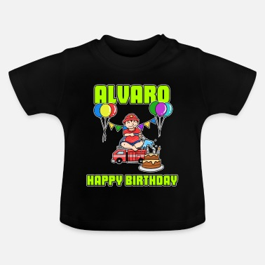 Alvaro Birthday Firefighters Alvaro Gift Birthday - Baby T-Shirt
