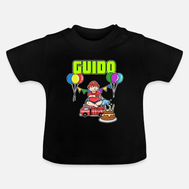 Guido regalo de bomberos Guido - Camiseta bebé