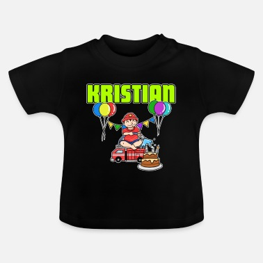 Kristian Fire Department Kristian gift - Baby T-shirt