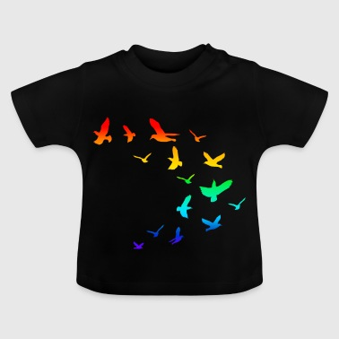 Flock of birds birds rainbow - Baby T-Shirt