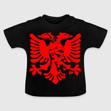 Albanian eagle with national hero Skanderbeg - Baby T-Shirt