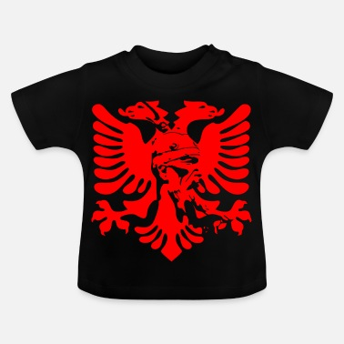 Albanian Eagle Albanian eagle with national hero Skanderbeg - Baby T-Shirt