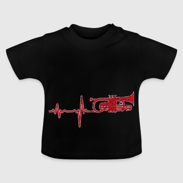 Gift Heartbeat trumpet - Baby-T-shirt