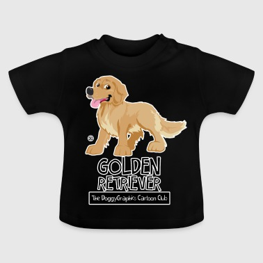 Golden Retriever CartoonClub - Maglietta per neonato