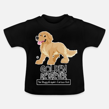 Retriever Golden Retriever CartoonClub - Maglietta per neonato