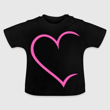 cf5ebccaa9ac Herz offen pink Liebe Heart Love Paare Verliebt - Baby T-Shirt