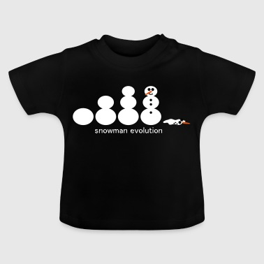 Schneemann Evolution mit Text - Baby T-Shirt