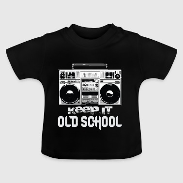 Old School Boombox 80s | Keeping It Old School - Koszulka niemowlęca