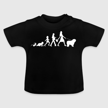 Polsk Lowland Sheepdog Gaver Grow Evolution - Baby T-shirt