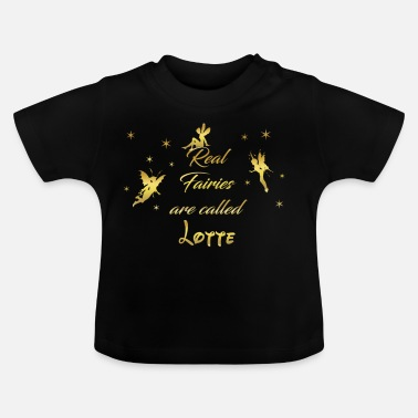 Lotte fairy fairies fairy first name name Lotte - Baby T-Shirt