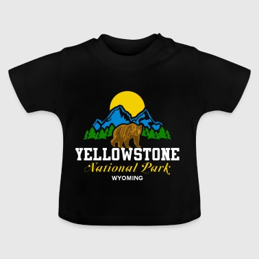 Wyoming Parc national de Yellowstone Wyoming Bear Nature Sun - T-shirt Bébé