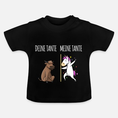 Tante Din tante Min tante ko Unicorn gave - Baby T-shirt