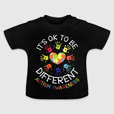 It's ok to be different - Autism Awareness - Camiseta bebé