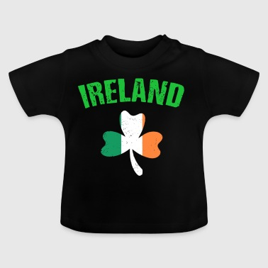 Ireland Flag Four Leaf Clover St Patrick's Day - Baby T-Shirt
