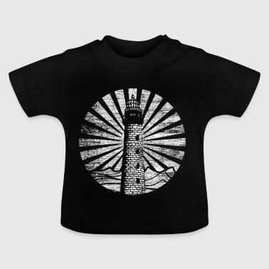 Lighthouse rays light shine on the beach - Baby T-Shirt
