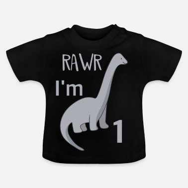 First For the first birthday for boys Titanosaurus - Baby T-Shirt