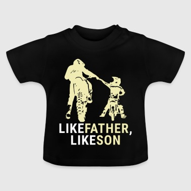 Son Motocross Father and Son Shirt - Gift - Baby T-Shirt