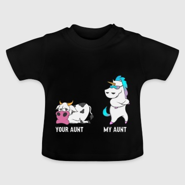 Moster Unicorn Cow din moster, min moster gåva EN - Baby-T-shirt