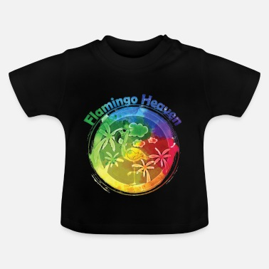 Heaven Flamingo Heaven Rainbow - T-shirt Bébé