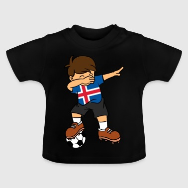 Iceland Football Iceland Soccer Ball Dabbing Kid Icelander Football - Baby T-Shirt