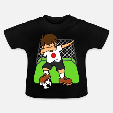 Japan Japan Soccer Ball Dabbing Kid Japanese Football - Baby T-Shirt