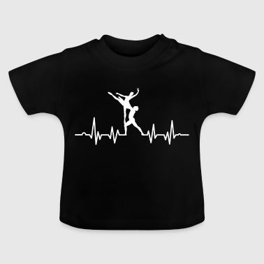 Dancing couple is dancing on the heartbeat - Baby T-Shirt