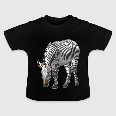 Striped cool gift idea of zebra mammal - Baby T-Shirt