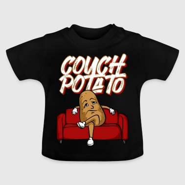 Grappige Couch Potato TShirt Lazy Vegetable - Baby T-shirt