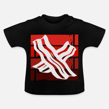 Späck Retro bacon - Baby-T-shirt
