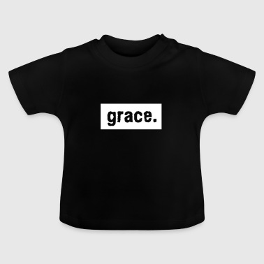 Grace with dot font Text Typo Design - Baby T-Shirt