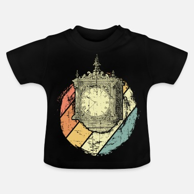 Antigua Reloj antiguo - Camiseta bebé