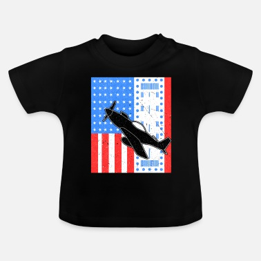 Jet Avion Avion Jet Jet Fighter USA Air Force - T-shirt Bébé