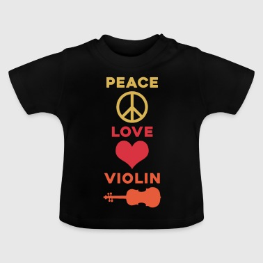 Peace Love Violin Musician Gift Christmas - Baby T-shirt