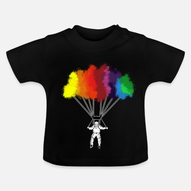 Skydiving Watecolor skydive parachute skydiving skydiver tee - Baby T-Shirt
