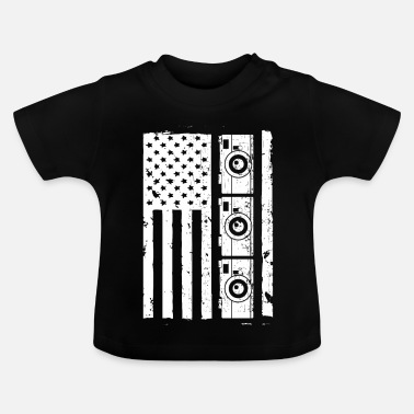 Stars And Stripes Camera American Stars and Stripes - Baby T-Shirt