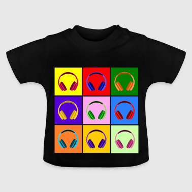 Pop Art Kopfhörer, Pop Art Headphones - Camiseta bebé