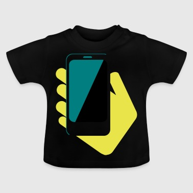 hand mobile phone 2 - Baby T-Shirt