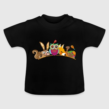eight forest animals - Baby T-Shirt