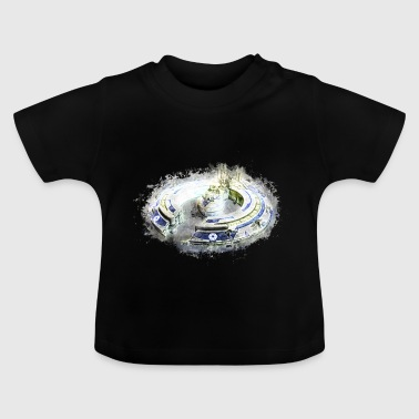Spaceship isolated brightly glowing - Baby T-Shirt