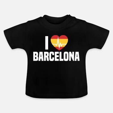d0cd79803 Barcelona I love Barcelona BCN Spain Barcelona holidays - Baby T-Shirt