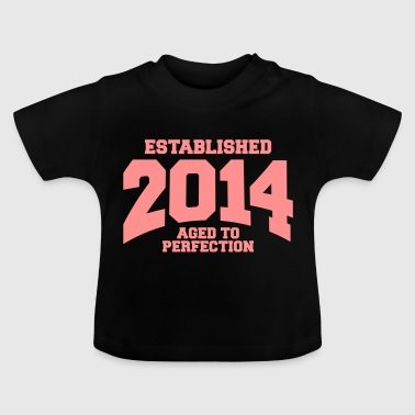 aged to perfection established 2014 (no) - Baby-T-skjorte
