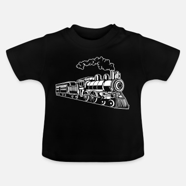 Trein Locomotief / Locomotive 02_weiß - Baby T-shirt