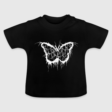 schmetterling death metal brutal hell - Baby T-Shirt