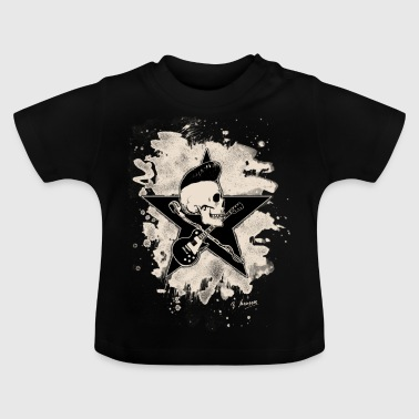 Rock-n-Roll Skull - bleached - Baby T-Shirt