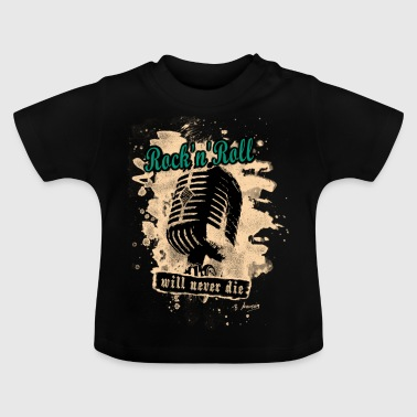 Rock-n-Roll Microphone - green - Baby T-Shirt