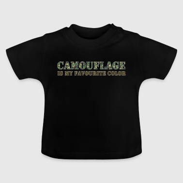 Kamouflage Favorite Color Army Army - Baby-T-shirt