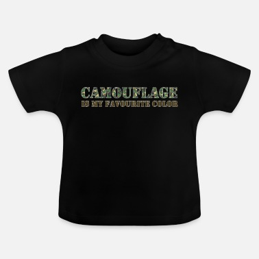 Army Army Camouflage Favoriete kleur Army - Baby T-shirt